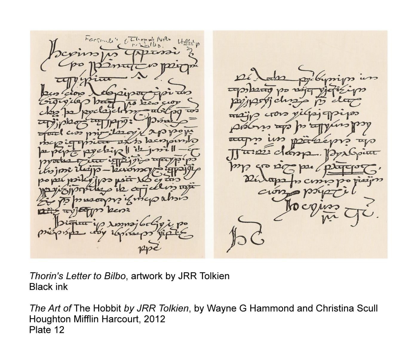 thorin u0026 39 s letter to bilbo - things