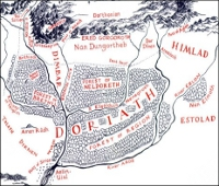 Map of Doriath.