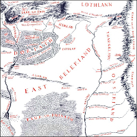 Map of East Beleriand.