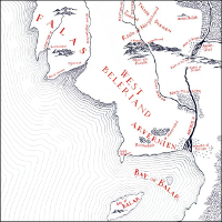 Map of West Beleriand.