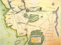 Color map of Beleriand.