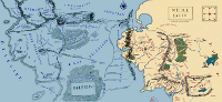 Map of Beleriand and the West of Middle-earth.