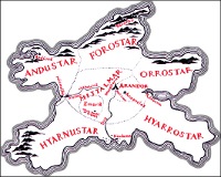 Map of Númenor.