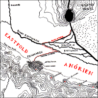 Map of the Rohan border.