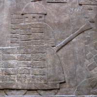 Assyrian battering ram.