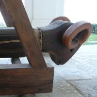 Medieval battering ram.